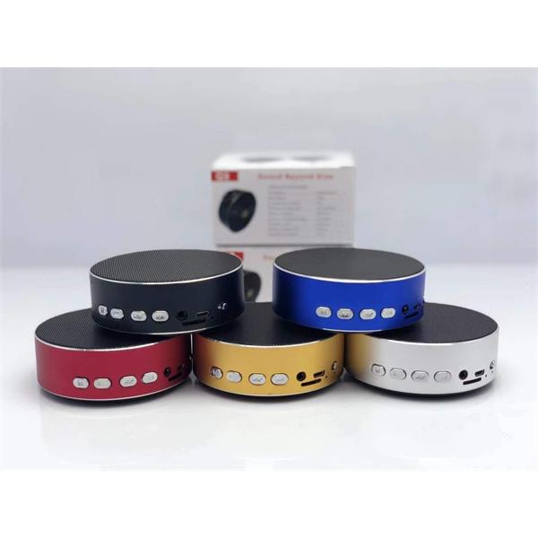 Round Metal Bluetooth Speaker