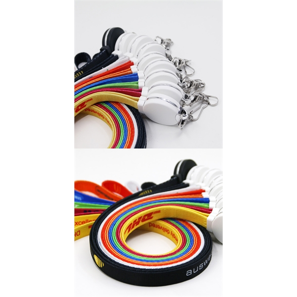 3 in 1 Round Lanyard Charging Cable