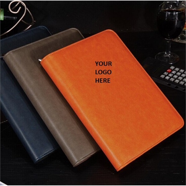 Business Folder A5 Notebook w/ Calculator & Card Holder