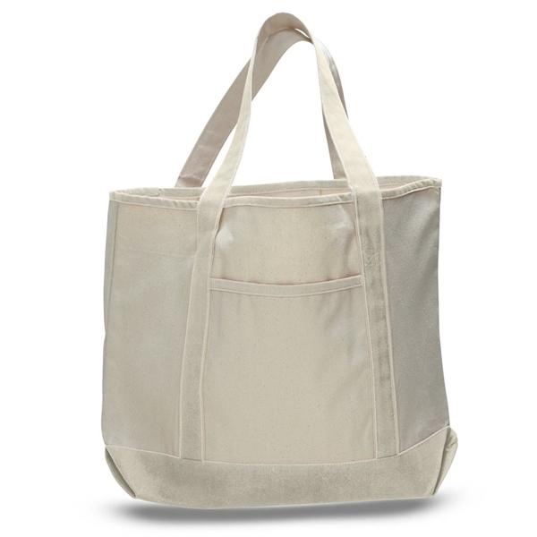 Jumbo Size Heavy Canvas Deluxe Tote Bag