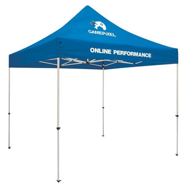 Standard 10' Tent Kit (Full-Color Imprint, 2 Locations)