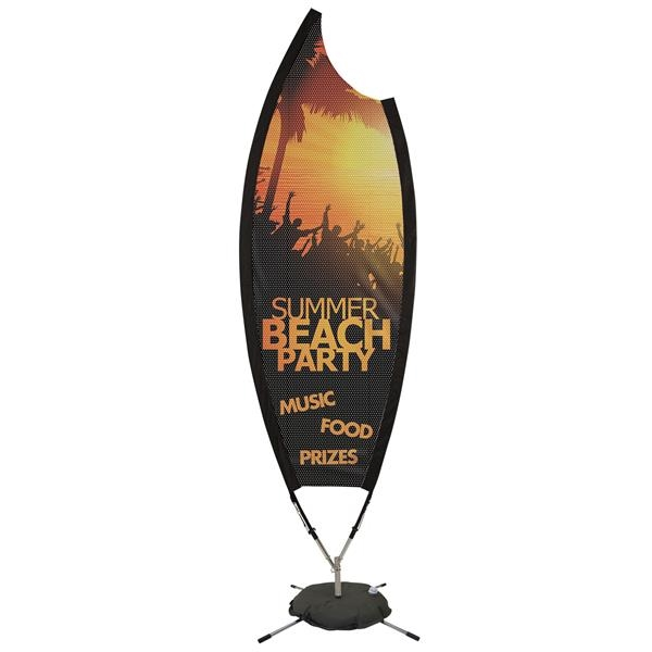 9' Claw Sail Sign Kit (Fabric Mesh with Scissor Base)