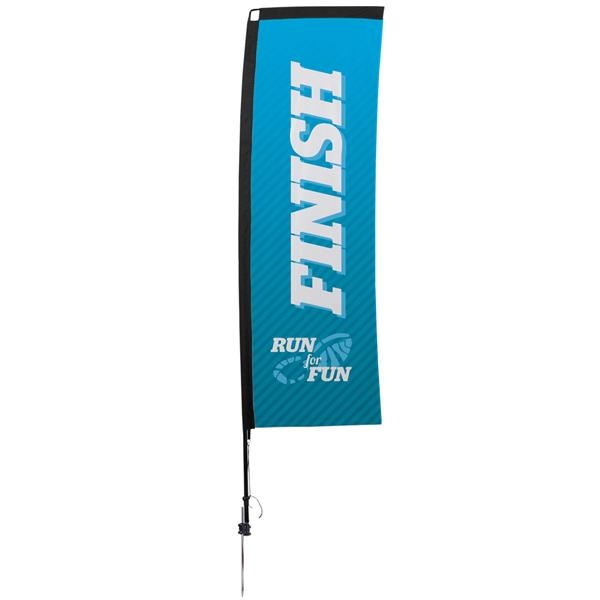 10' Premium Rectangle Sail Sign, 1-Sided, Ground Spike