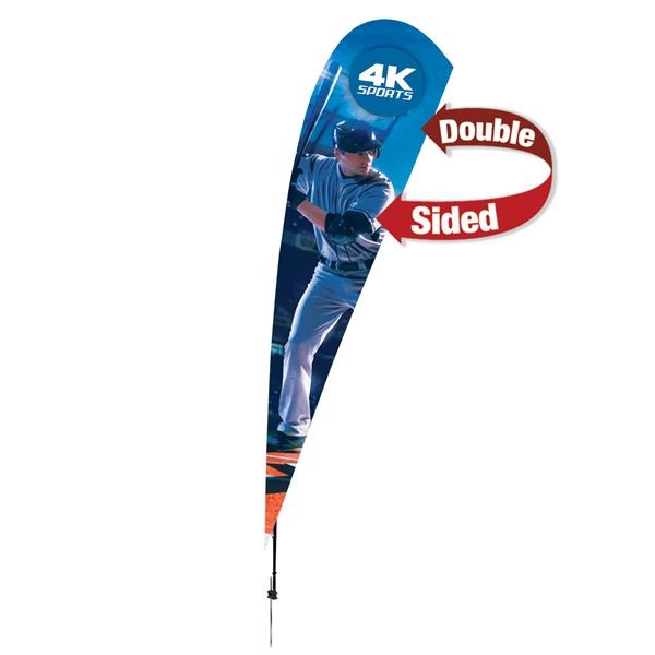 15' Streamline Teardrop Sail Sign, 2-Sided, Ground Spike
