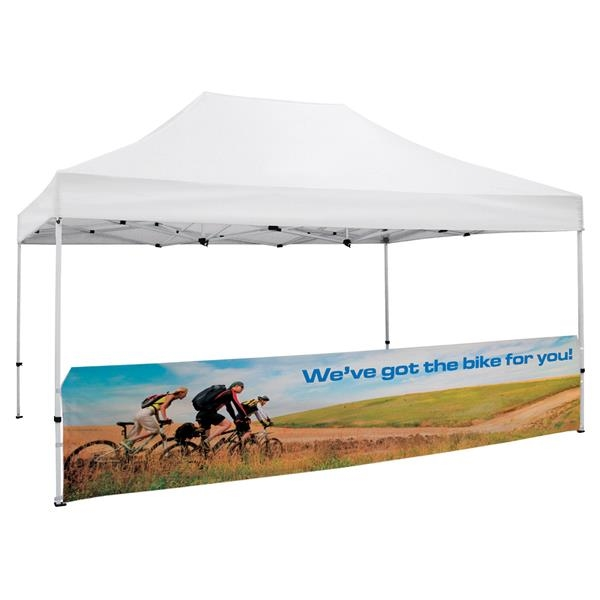 15' Tent Half Wall (Dye Sublimated, Single-Sided)