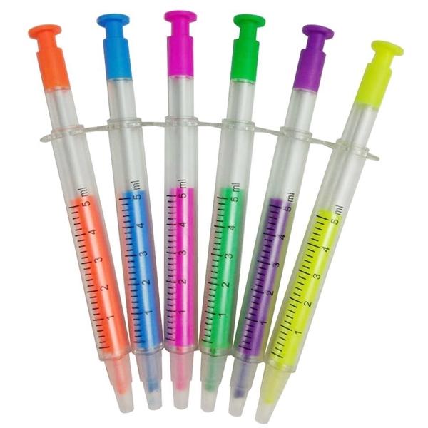 Syringe Highlighter Pen