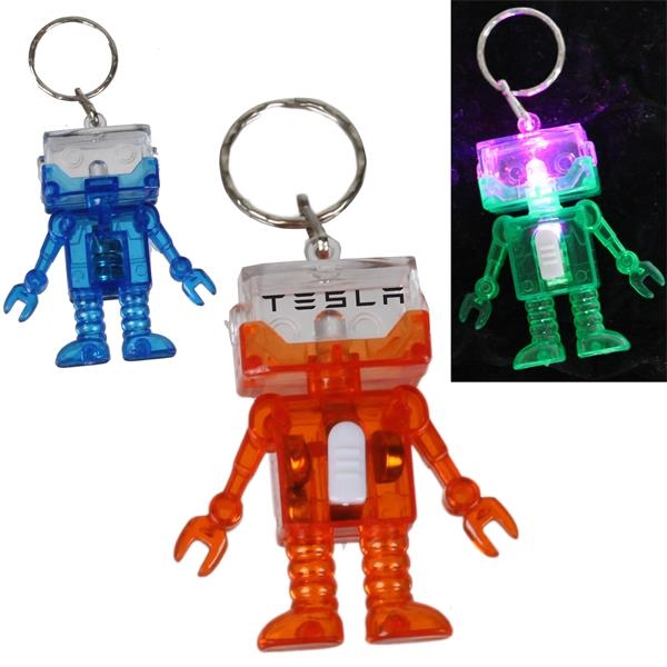 Light Up Robot Key Chain