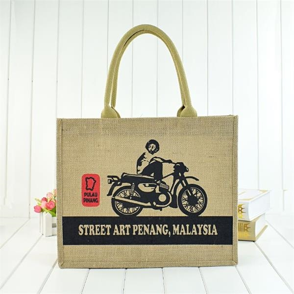 Eco-friendly Jute Shopping Tote Bag
