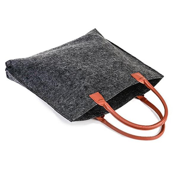 The felt shopping bag for women fashion style