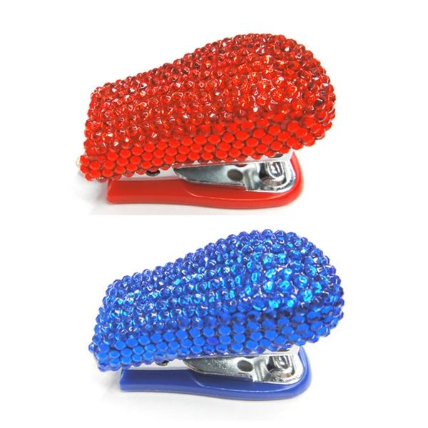 Custom Rhinestone Mini Stapler Woman Love