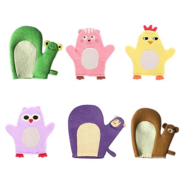 Cartoon bath gloves for kids