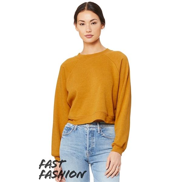 BELLA + CANVAS Women's Raglan Pullover Fleece