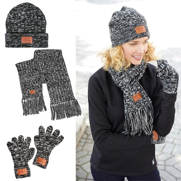 Leeman™ 3-in-1 Heathered Knit Winter Set