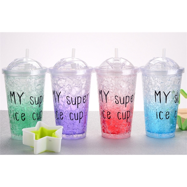 16 oz Double Wall Gel-Filled Cooler Ice Cup