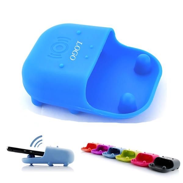 Hippo Shape Silicone Phone Loudspeaker