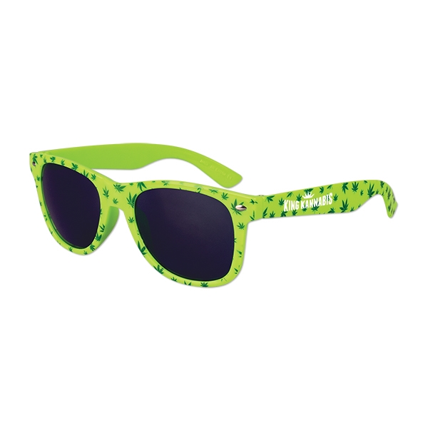 Cannabis Sunglasses - Great giveaway for medical marijuana dispensaries or clinics focusing on cancer treatment or holistic healing.