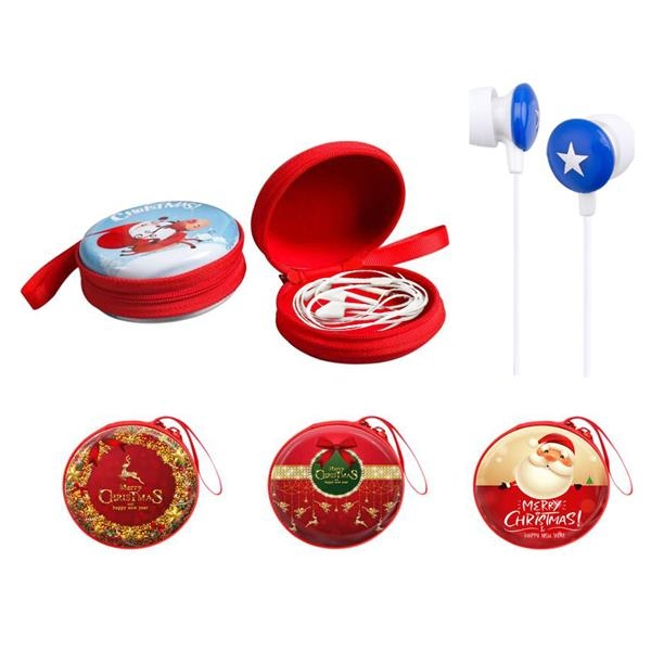 Earphone with Earbud Case for Chirstmas