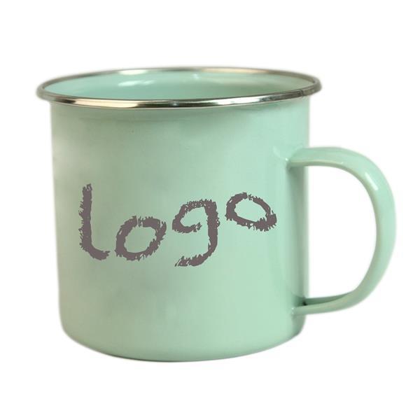 15 OZ Enamel Look Ceramic Coffee Mug