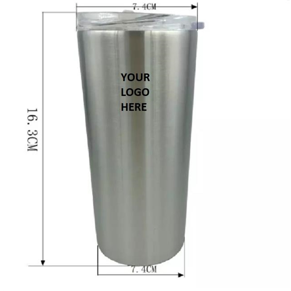 Straight Cup Stainless Steel Tumbler with Lid 16 oz
