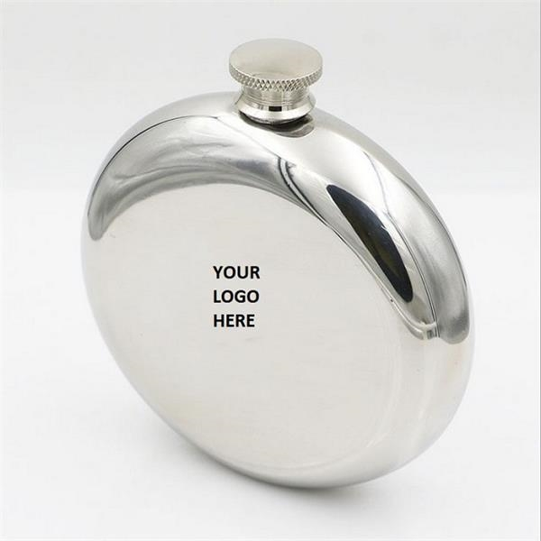 Portable Stainless Steel Round Hip Flask 5 oz