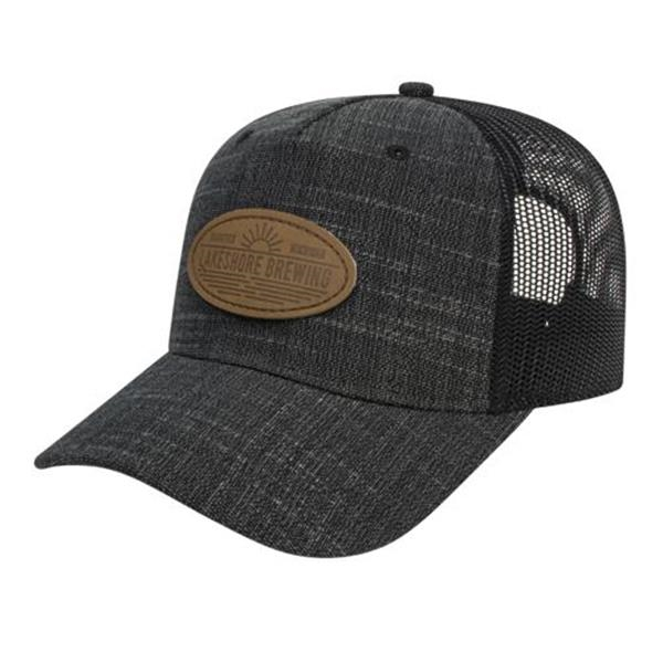 Five Panel Poly-Rayon with Mesh Back Cap
