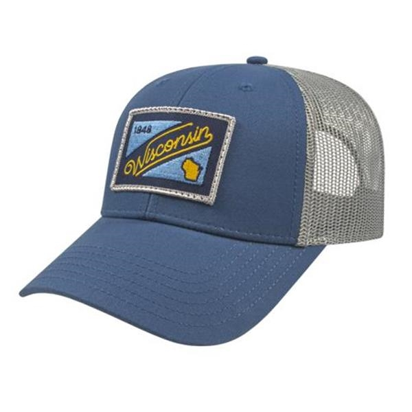 Low Profile Trucker with Modified Flat Bill Cap