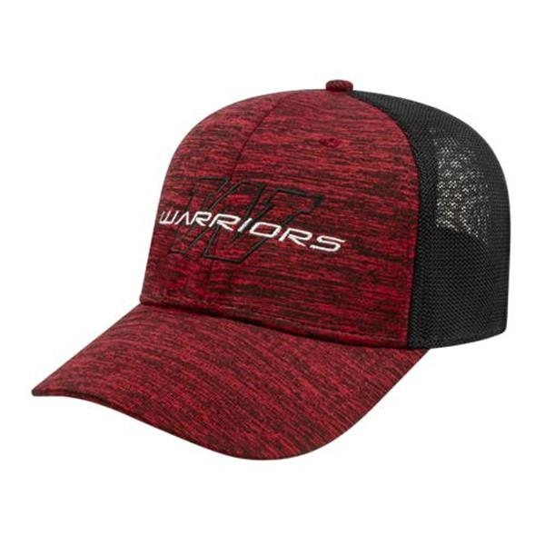One Size Stretch-Fit Mesh Back Cap