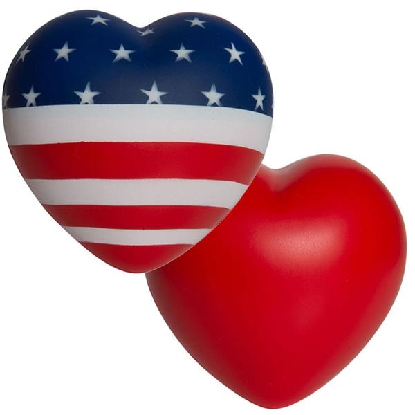 Squeezies (R) Flag Heart Stress Reliever
