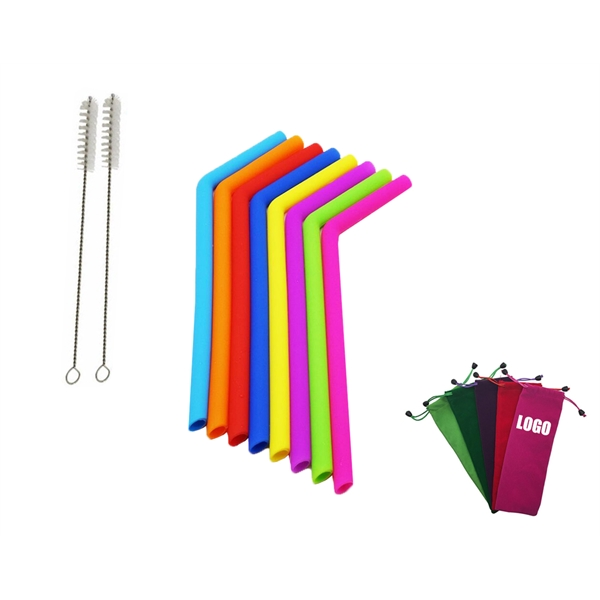 Silicone Straws Set