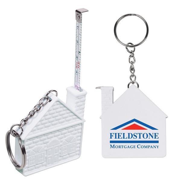 3' House Tape Measure Keychain