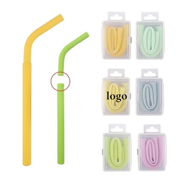 Collapsible Separated Silicone Straw