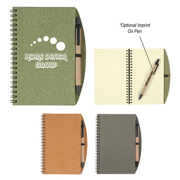 """5"""" X 7"""" Eco-Inspired Spiral Notebook & Pen"""
