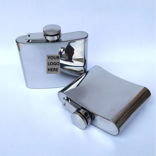 Mirror Finished SS Hip Flask 4.5oz