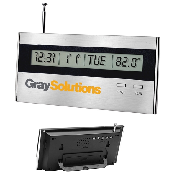 Desktop Alarm Clock with Radio
