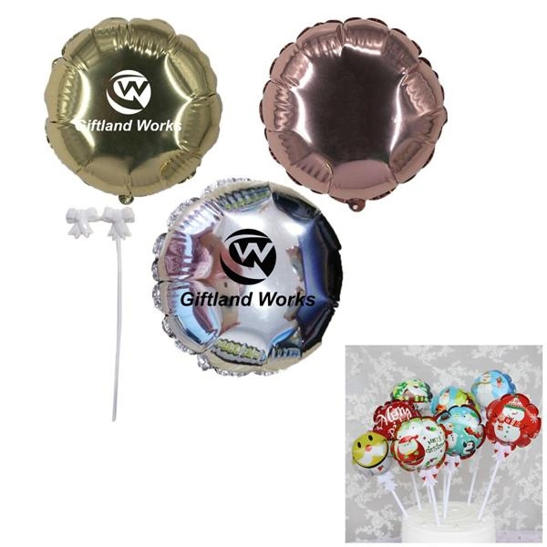 Self Inflated Festival Decoration Round Shape Balloon