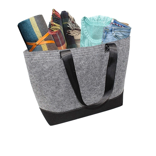 Felt Shopping Bag for Women Fashion Style