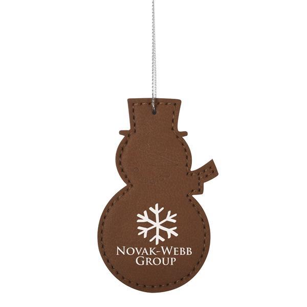 Leatherette Ornament - Snowman