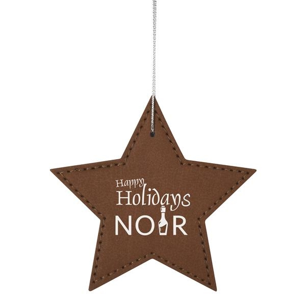 Leatherette Ornament - Star
