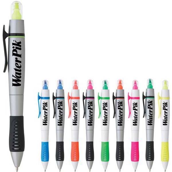 Dual-Tip Grip Pen-Highlighter