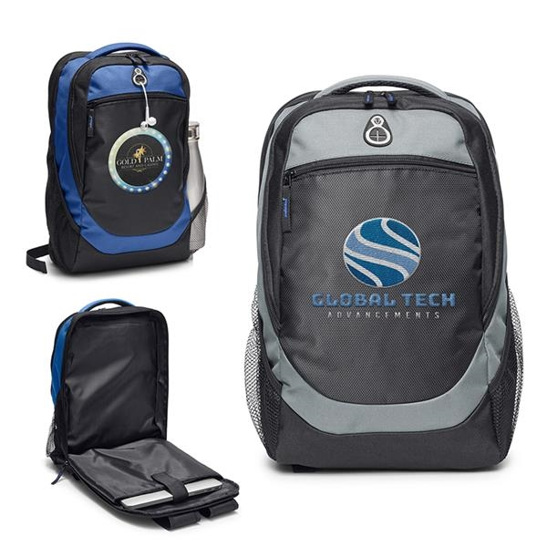 Hashtag Backpack with Back Access Laptop