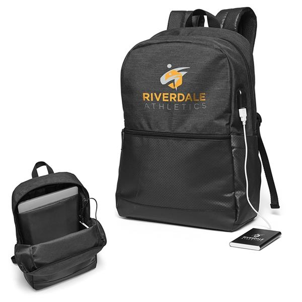 Power Loaded Tech Squad USB Backpack with Power Bank