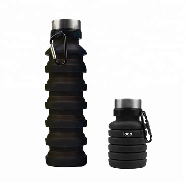 16OZ Stretch Collapsible Sport Bottle with  free carabiner