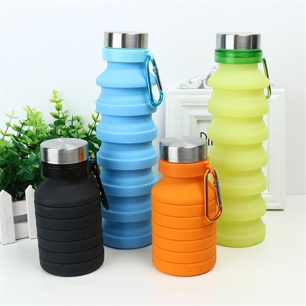 Collapsible Silicone Travel Cup, Fordable Water bottle