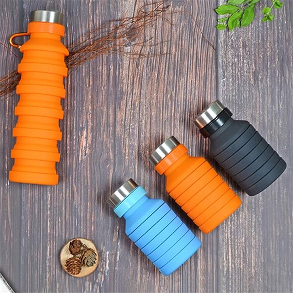 Collapsible Silicone Travel Cup, Foldable Water bottle