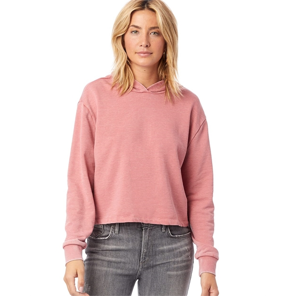 Alternative Women's Burnout French Terry Crop Pullover Ho...