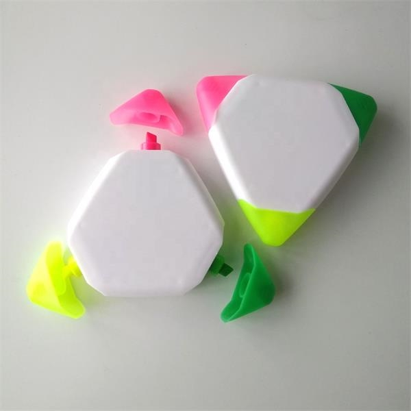 3 in 1 Triangle Highlighter with Colored Tips