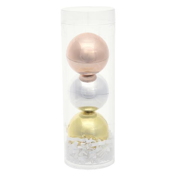 3-Piece Metallic Lip Moisturizer Ball Tube Gift Set