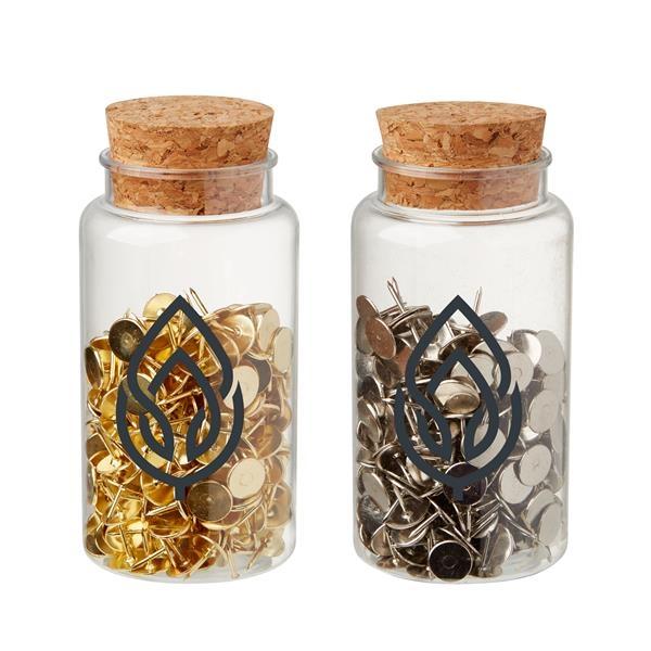 Push Pins in Jar
