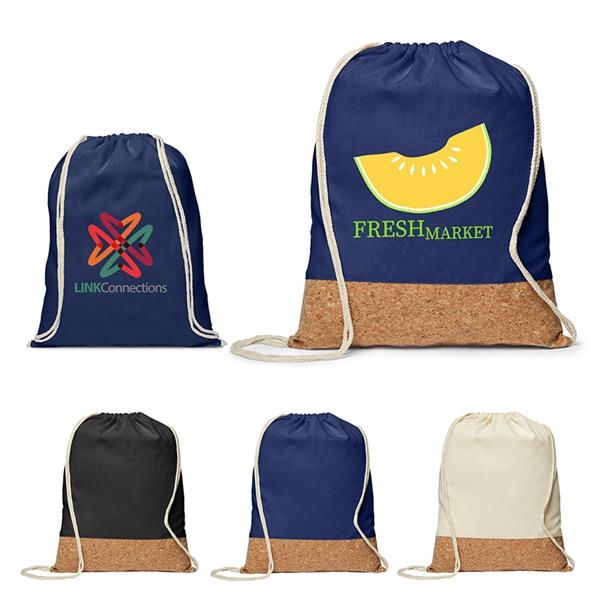 5 oz. Cotton/Cork Drawstring Backpack