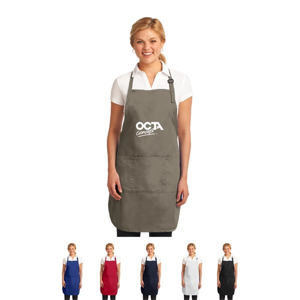 Easy Care Full-Length Apron with Stain Release, Imprinted
